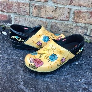 Sanita Artist Hand Painted Clogs